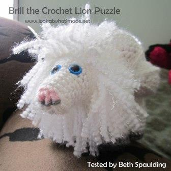 Brill the Crochet Lion Puzzle Pattern Amamani