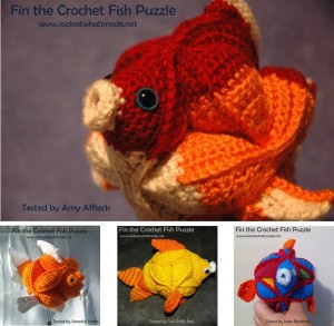 Fin the Crochet Fish Puzzle Testers 300x293 Fin the Crochet Fish Puzzle Pattern