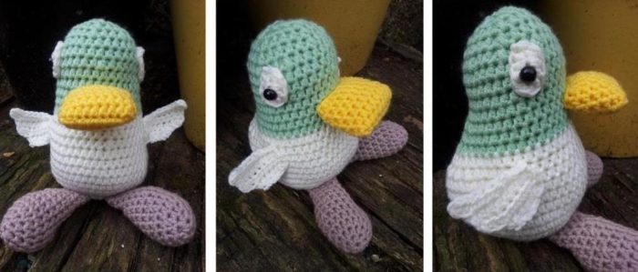 Crochet duck pattern by Jo Clark - Sarah and Duck