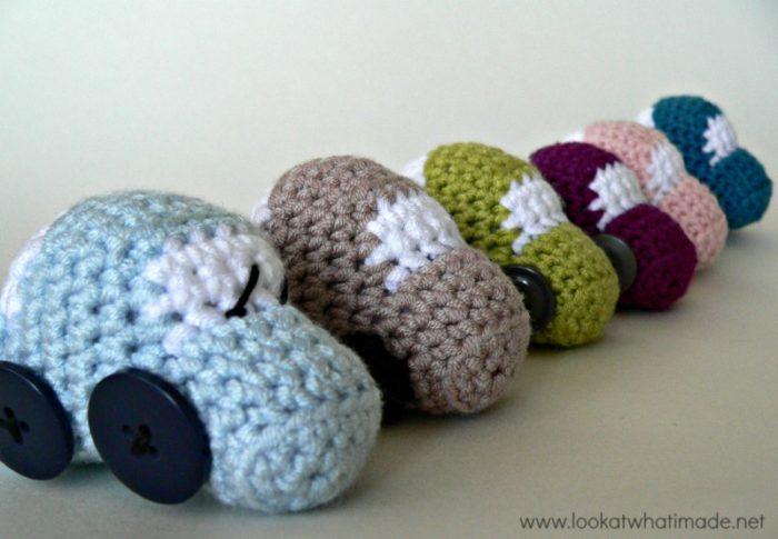 Tiny Crochet Cars