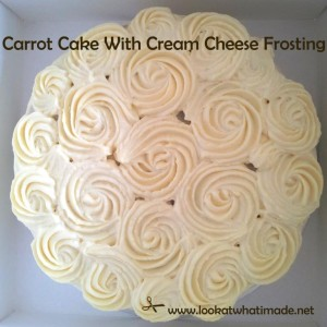 Carrot Cake With Cream Cheese Frosting 8 300x300 Carrot Cake and Cream Cheese Icing