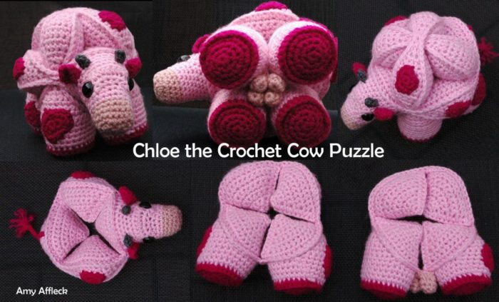 Chloe the Crochet Cow Puzzle Amamani Amy Affleck Chloe the Crochet Cow Puzzle