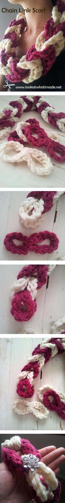 Crochet Chain Link Scarf