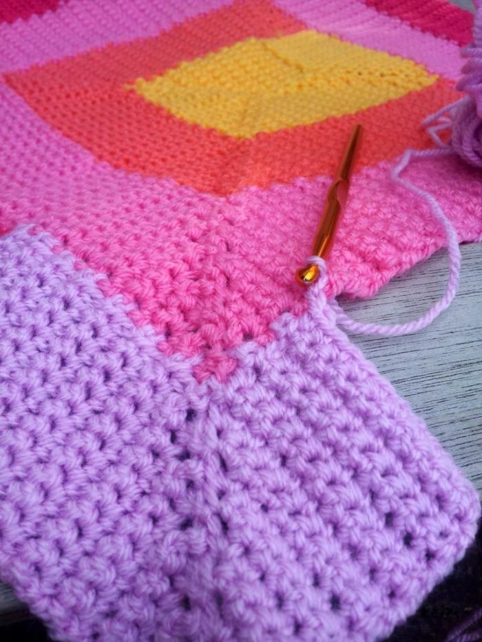Crochet Net Stitch Patterns : Ten Stitch Blanket Crochet Pattern - Look At What I Made