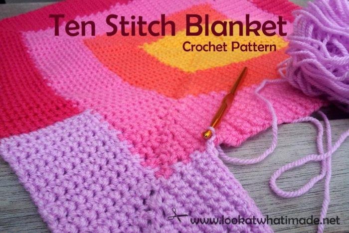 Crochet Net Stitch Patterns : This Ten Stitch Blanket Crochet Pattern is a conversion of Frankie ...