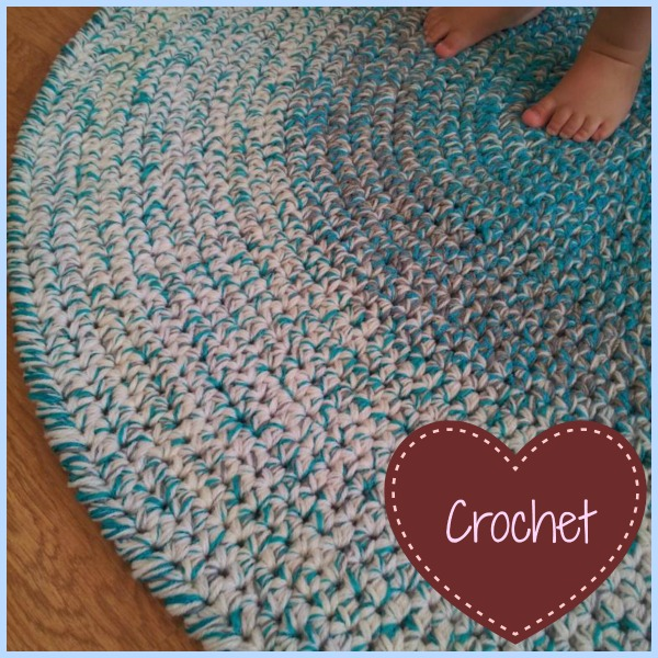 Crochet Round Rug - Look At What I Made