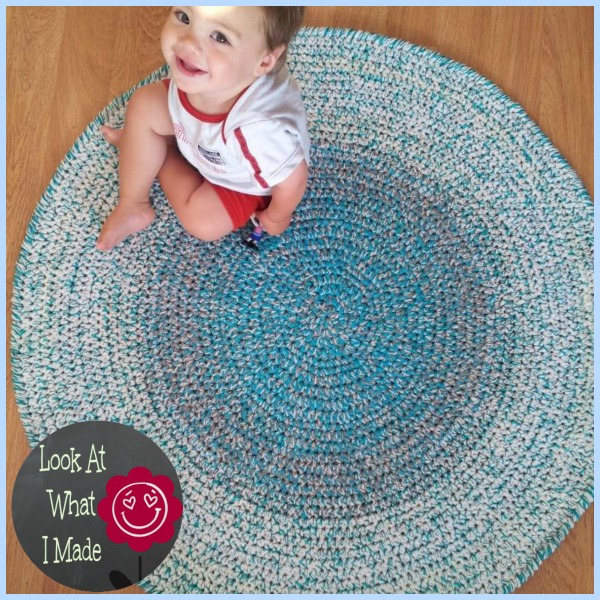 crochet round rug  look at what i made, Rug/