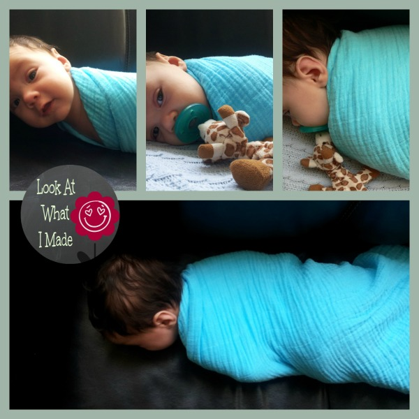 DIY Coloured Swaddling Blanket How To DIY Coloured Swaddling Blanket