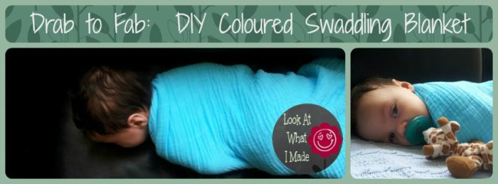 DIY Coloured Swaddling Blanket DIY Coloured Swaddling Blanket