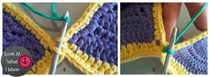 Crochet Zipper Join : Join Crochet Squares Flat Method