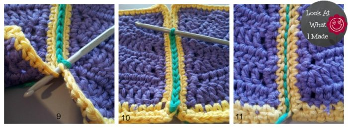 Crochet Stitches Joining Yarn : How to Join Crochet Squares - Completely Flat Zipper Method - Loo...