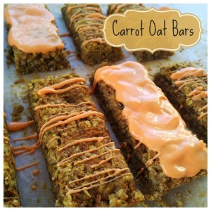 Carrot Oat Bars {Recipe}