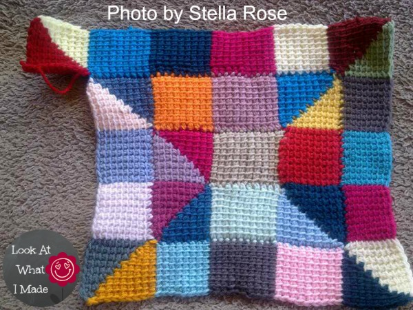 Tunisian Crochet Ten Stitch Blanket Free Pattern Look At What I