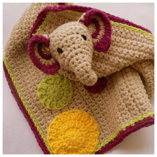 Crochet Elephant Lovie ⋆ Look At What I Made