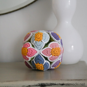 Crochet Flower Ball Pattern (Amish Puzzle Ball)