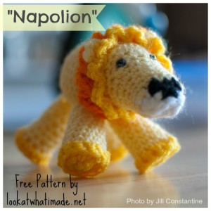 Napolion the Crochet Lion – FREE Pattern