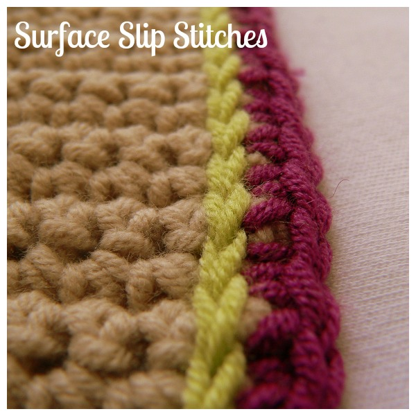 Surface Slip Stitches Crochet