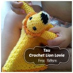 Tau Crochet Lion Lovie