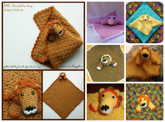 Tau Crochet Lion Lovie Testers