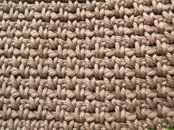 Crochet Linen Stitch Dishcloth - Look At What I Made