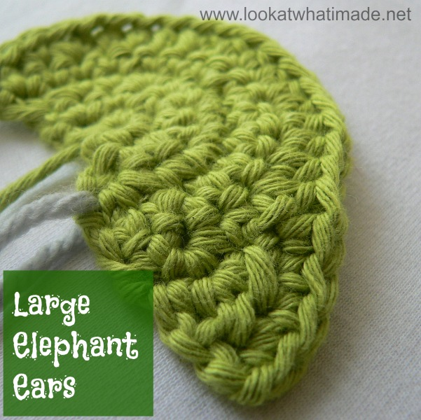 Large Crochet Elephant Ears