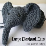 Large Crochet Elephant Ears (Amigurumi)