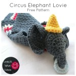 Circus Elephant Lovie – A Dribs and Drabs Design