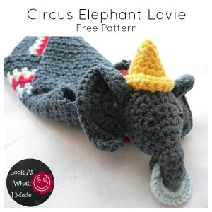 Circus Elephant Lovie – A Dribs and Drabs Design