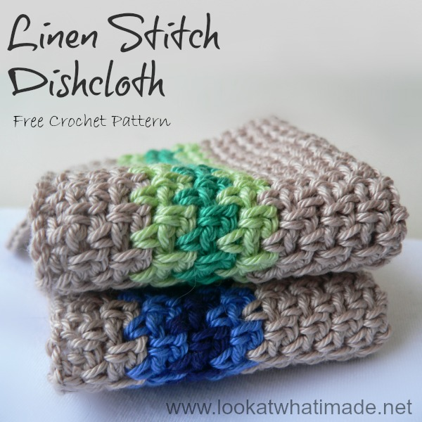 Crochet Linen Stitch Dishcloth ⋆ Look At What I Made Delectable Best Crochet Dishcloth Pattern