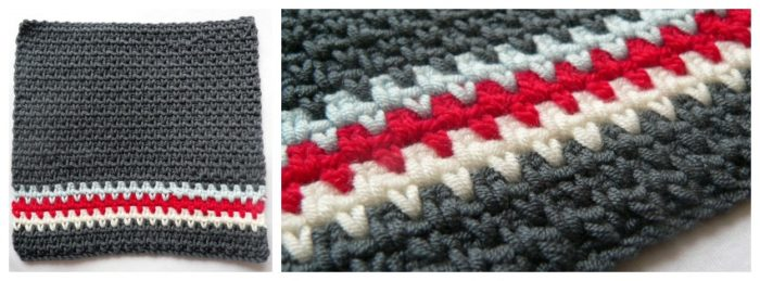 Crochet Linen Stitch : Sample Pattern: Crochet Linen Stitch Lovie (or Linen Stitch Dishcloth)