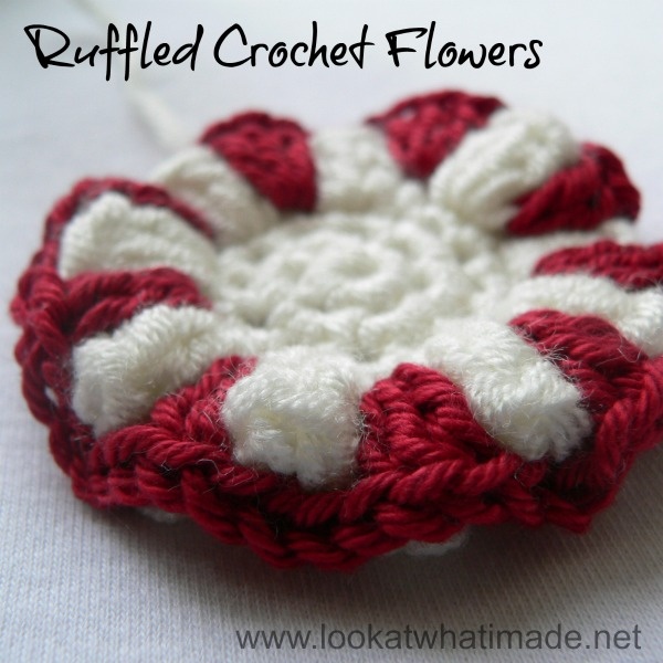 Ruffled Crochet Flower