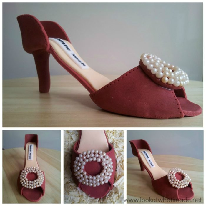 Gum Paste High Heel Shoe 1 Gumpaste High Heel Shoe