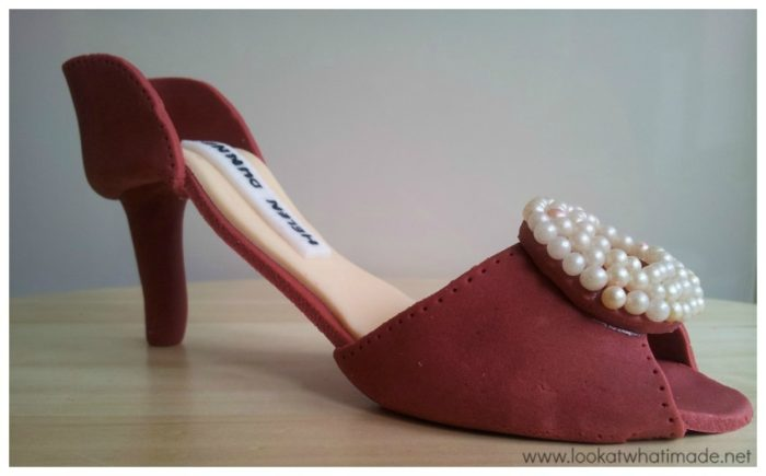 Gum Paste High Heel Shoe 2 Gumpaste High Heel Shoe