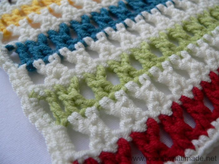 How to Crochet: Treble Cross Stitch (K-Stitch) ⋆ Look At What I Made