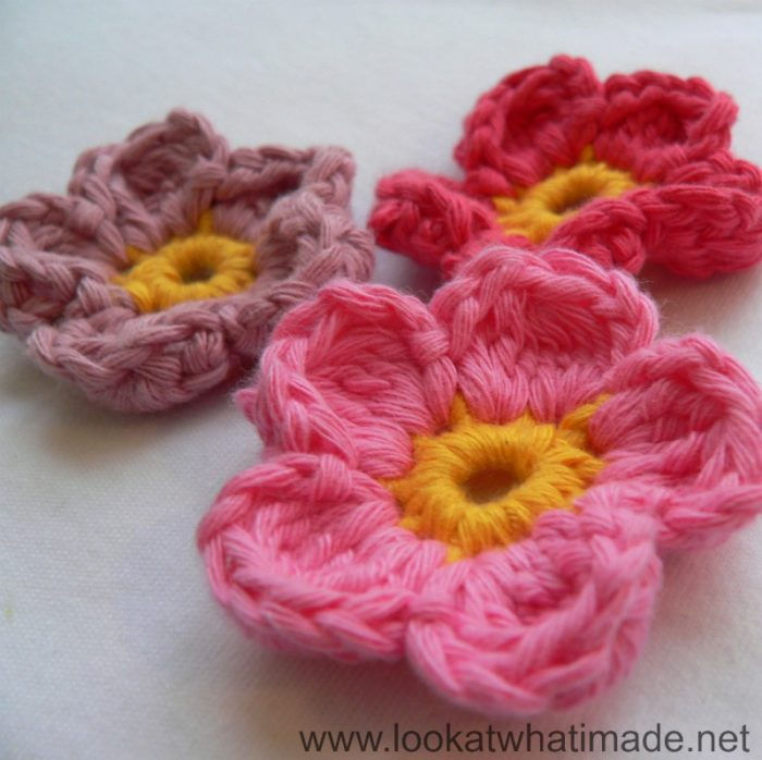 Inverted Crochet Cluster Flowers