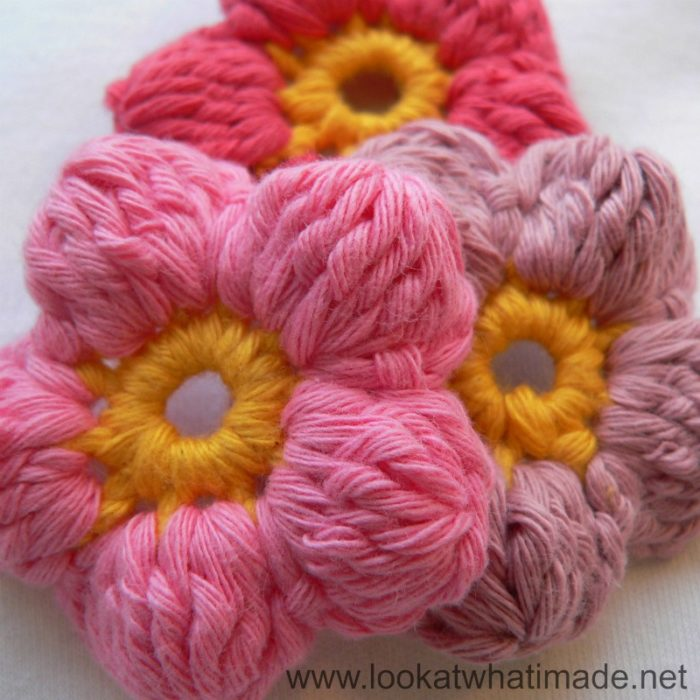 Crochet Flower Puff Pattern : Cluster Flowers (Crochet Flowers) ? Look At What I Made