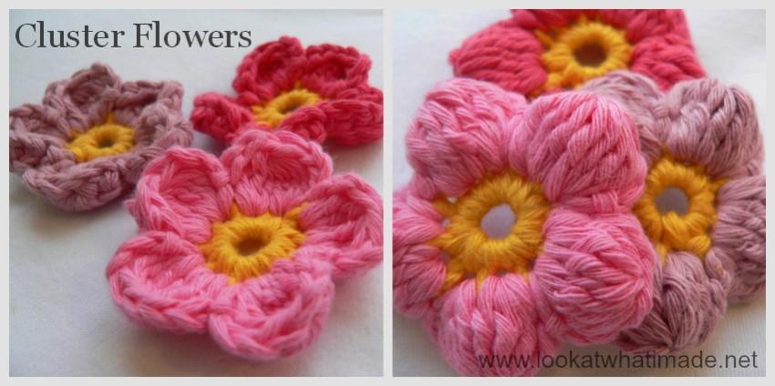 Crochet Cluster Flowers