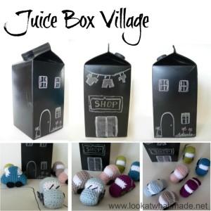 DIY Juice Box Village