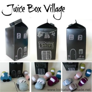 Juice Box Crafts:  Juice Box Village