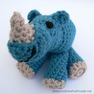 Little Zoo:  Rupert the Crochet Rhinoceros