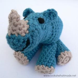 Little Zoo:  Rupert the Crochet Rhinoceros