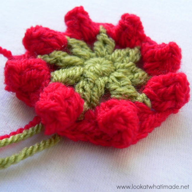 Basket of Berries Crochet Square
