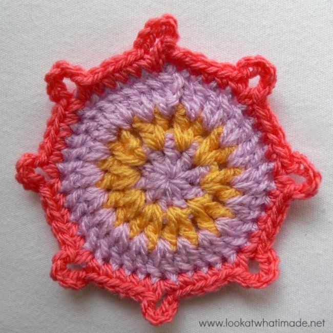 Eight Pointed Flower Crochet Square