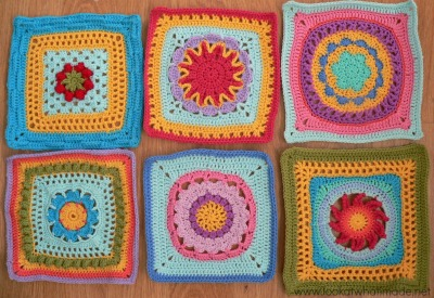 Lookatwhatimade Block a Week CAL 2014 First 6 Squares