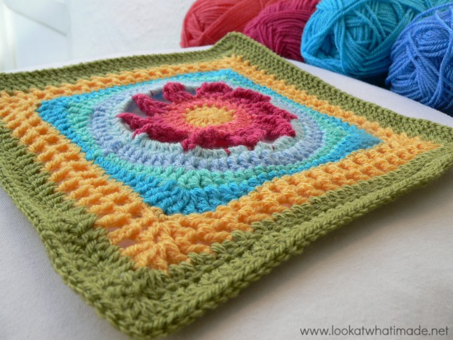 Blooming Lace Afghan Square