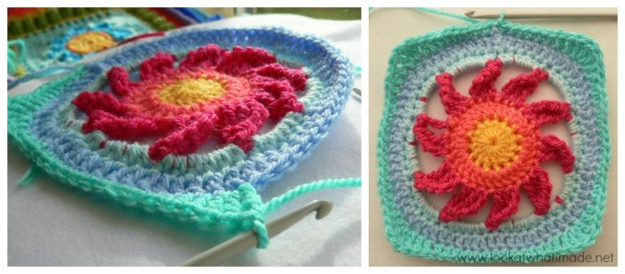 Blooming Lace Crochet Square