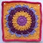 Cocoa Puff Crochet Square