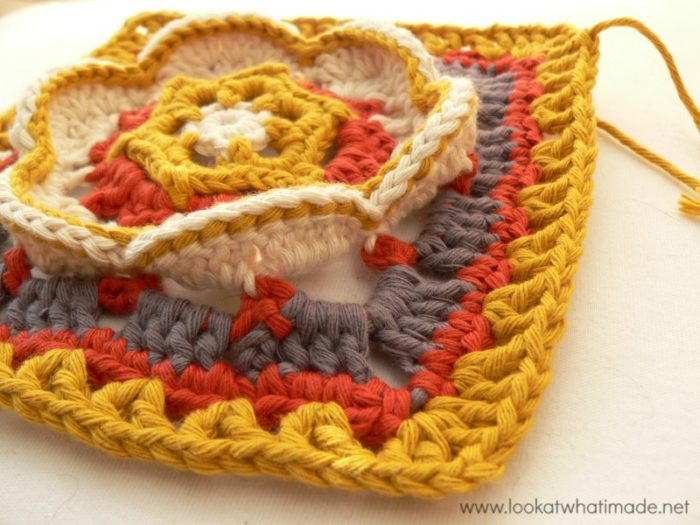 Kaleidoscope Blossom Crochet Square Photo Tutorial