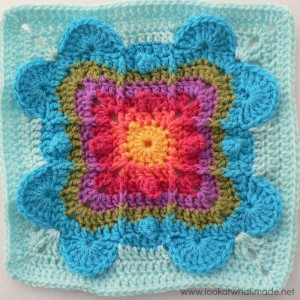 Never Ending Love Crochet Square by Aurora Suominen