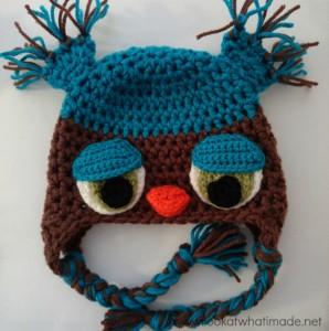 Featured Pattern:  NAOH Crochet Owl Hat